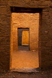 Ancient doorway into rich Native American culture at Chaco Culture National Historic Park in New Mexico.