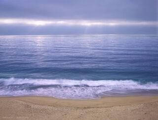 Calming and meditative Big Sure coastal photograph perfectly balances coastal storms and ocean serenity.