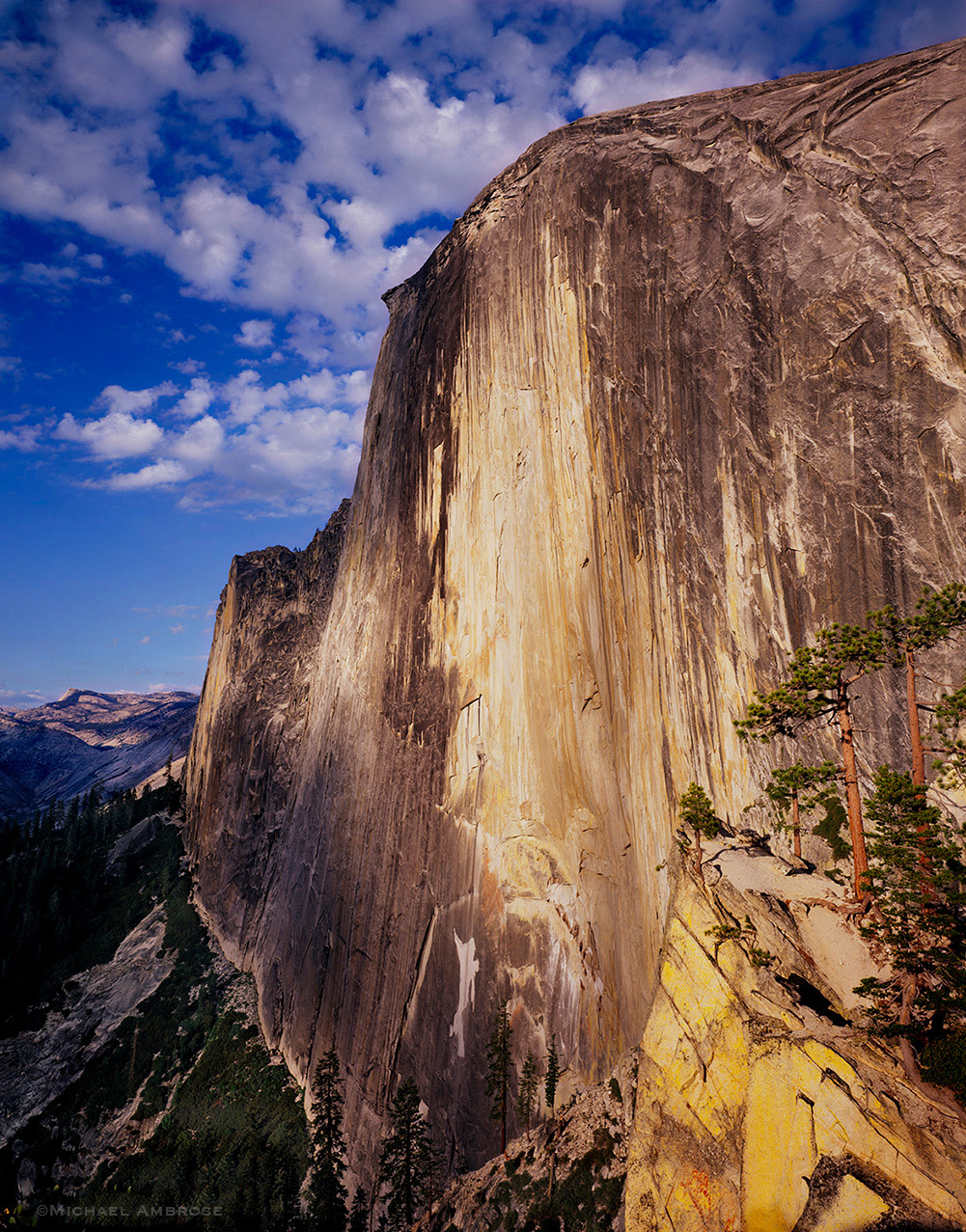 Northwest face of Half dome in Yosemite National Park