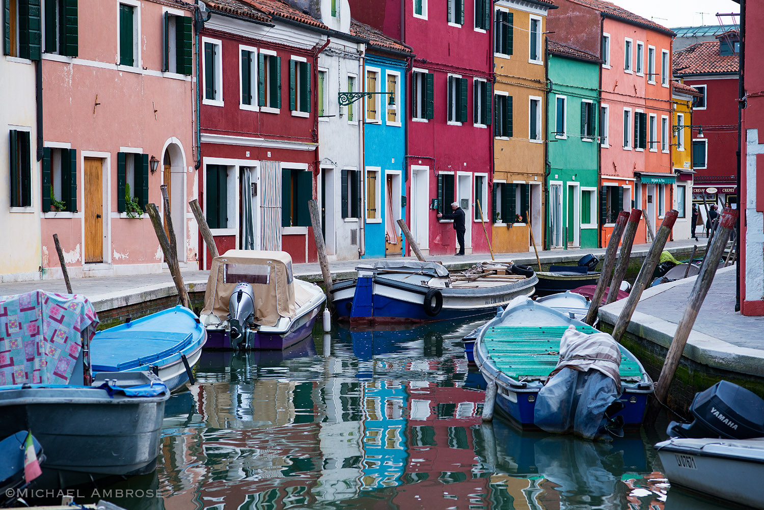 Burano, Italy draws crowds with brightly painted buildings, reflections in the canals, handmade arts, special cuisine, and much more.