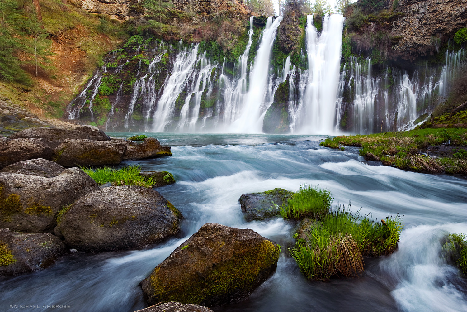 McArthur Burney Falls is a spectacular waterfall in Shasta County, California