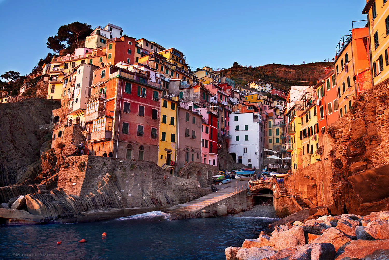 Riomaggiore is one of the Cinque Terre (Five Villages) of coastal Italy.